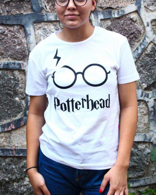Potterhead Baskılı Beyaz Tişört