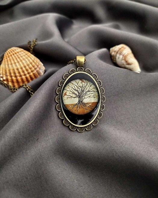 Hayat Ağacı Madalyon Kolye