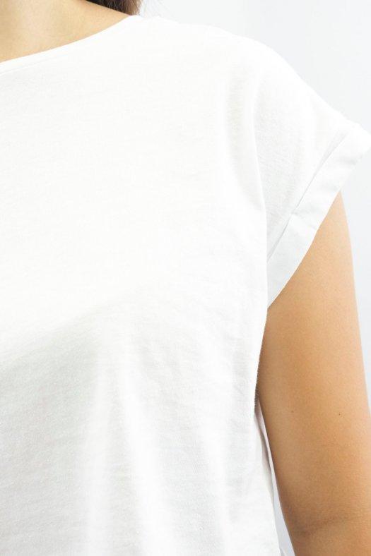 Yarasa Kol Basic Beyaz Kısa Tişört