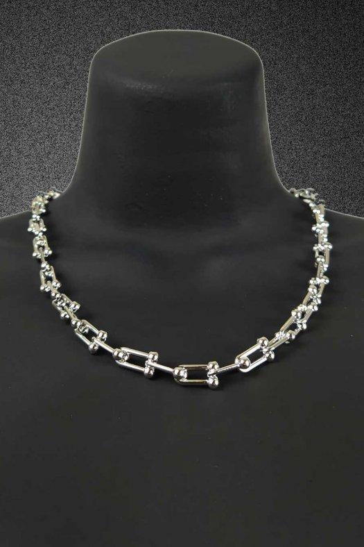 Gümüş Gri İnce Tiffany Kolye